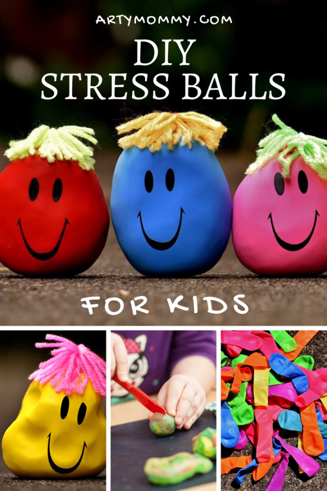 DIY stress balls for kids with play dough and balloons learn emotions artymommy.com