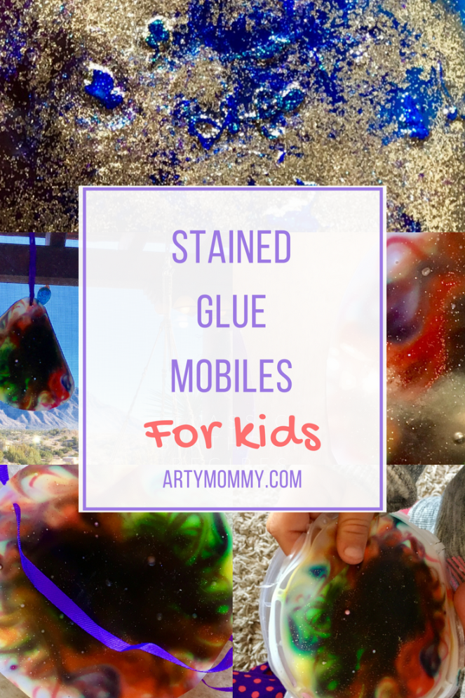 Stained Glue Mobile for Kids