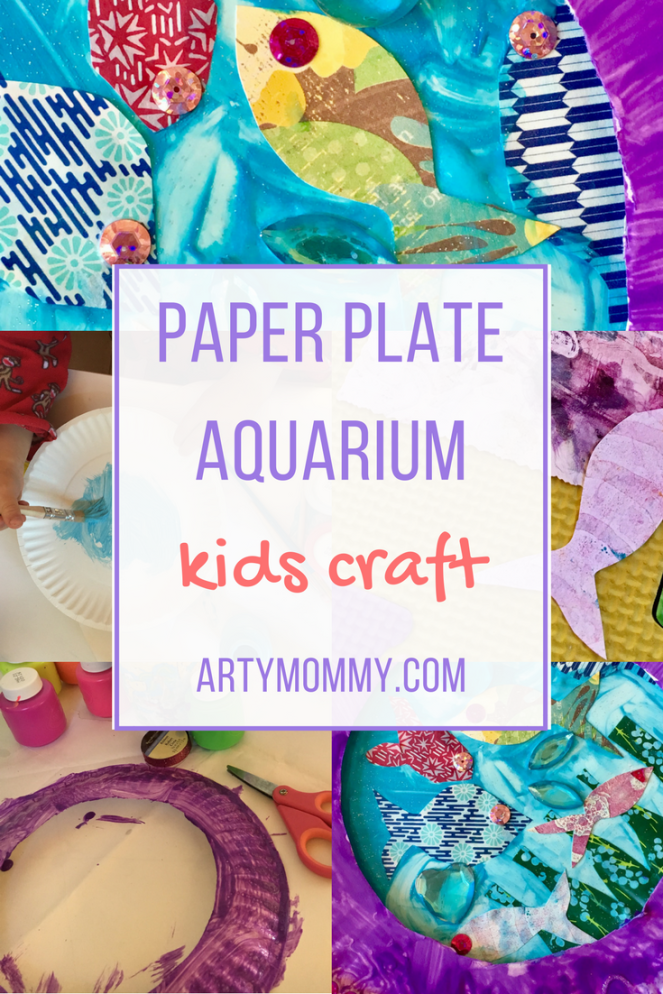 Paper plate aquarium for kids