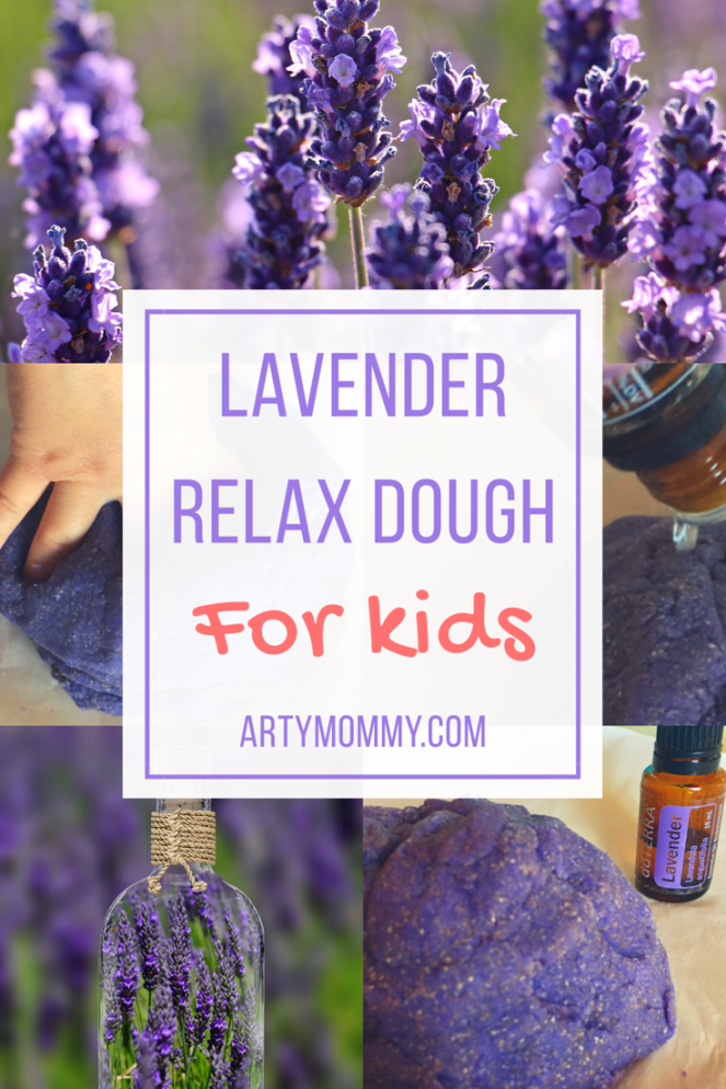 Lavender relax play dough for kids artymommy.com