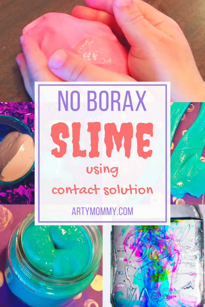 No borax slime using contact solution