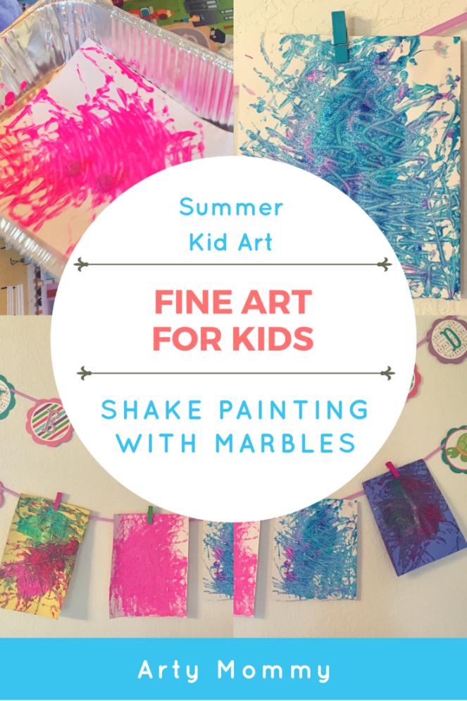 Marble shake painting DIY kids art