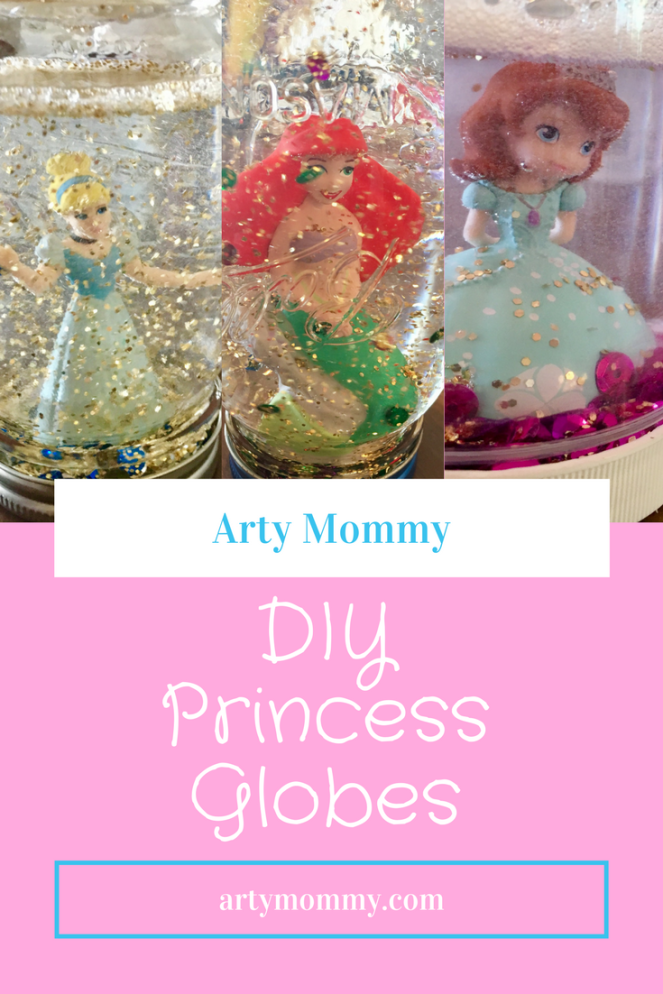 DIY Princess Glitter Globes