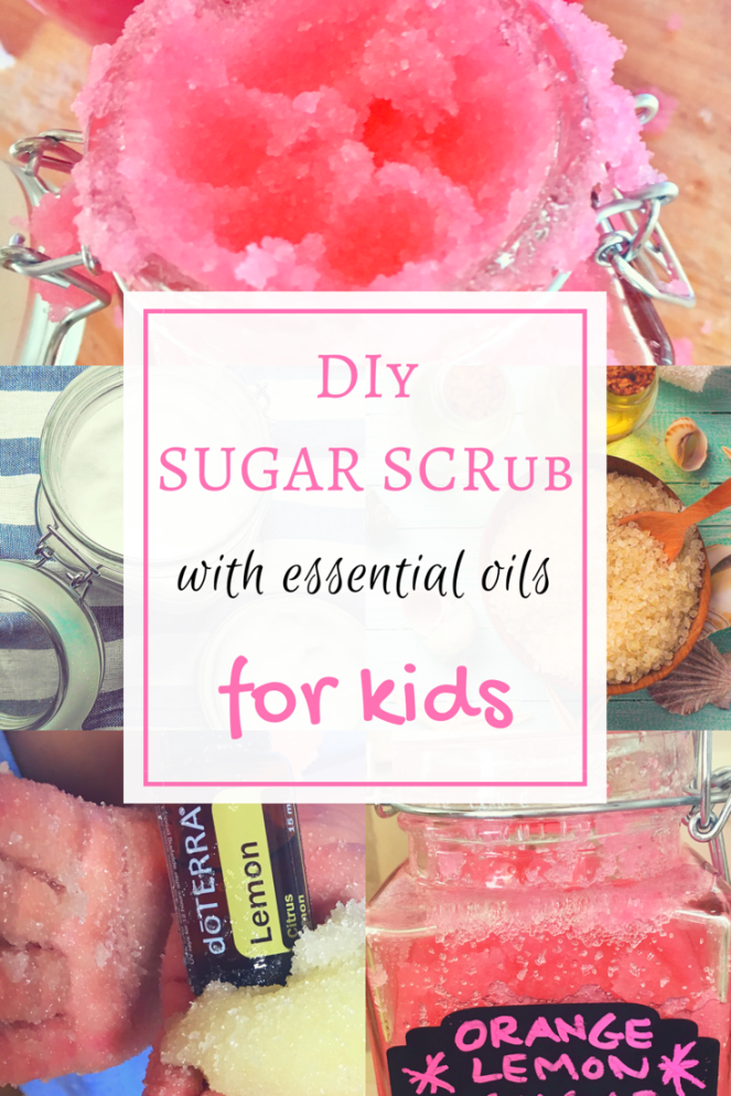 DIY sugar scrub with dōTERRA essential oils for kids