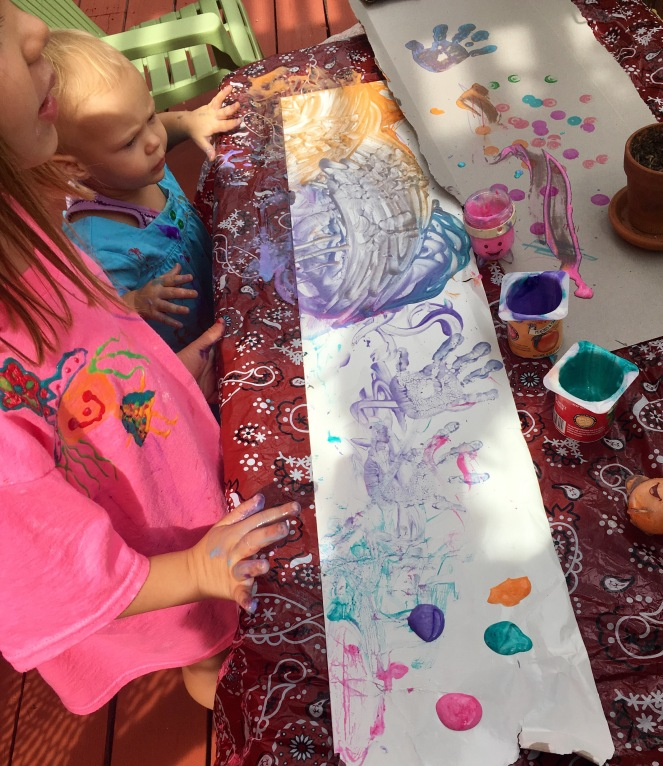 Edible finger paint tactile art for babies