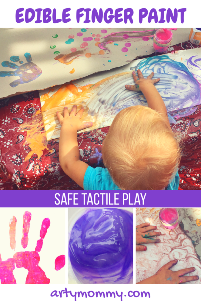 Edible finger paint safe tactile play artymommy.com