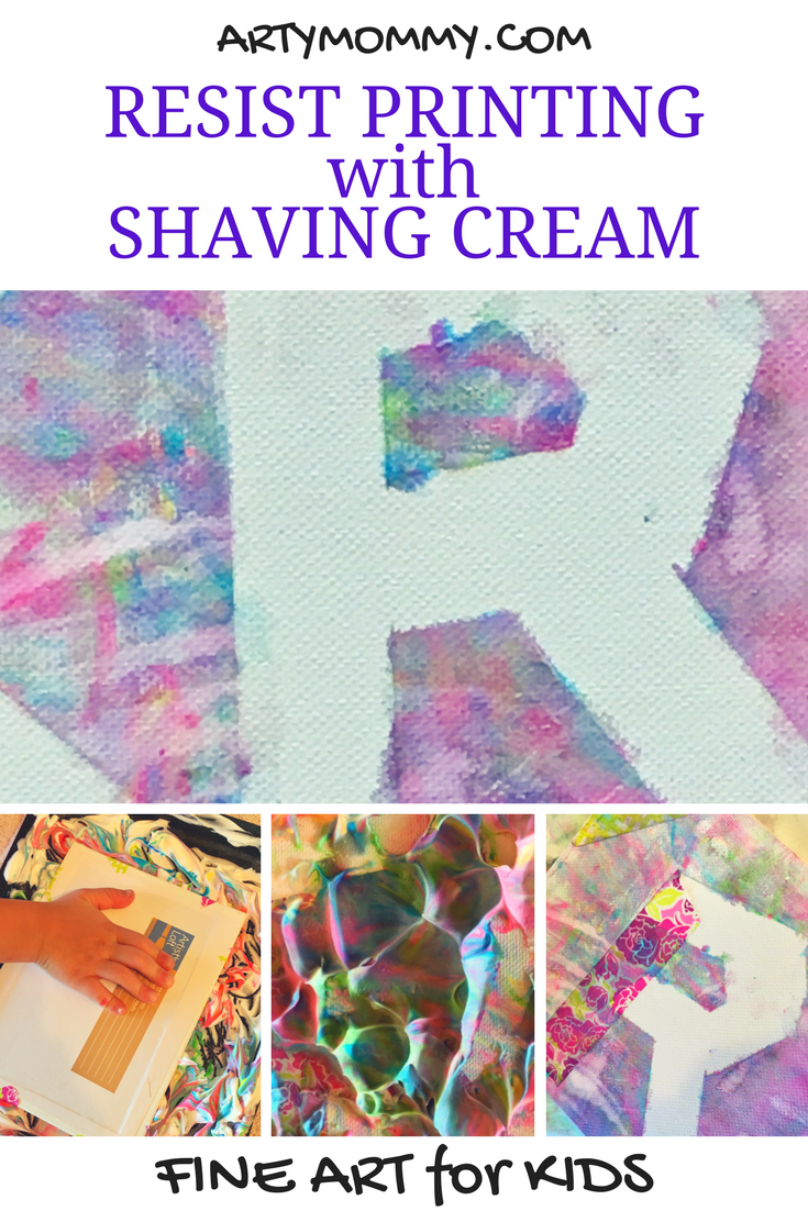 Resist Printing for Kids with Shaving Cream – ARTY MOMMY