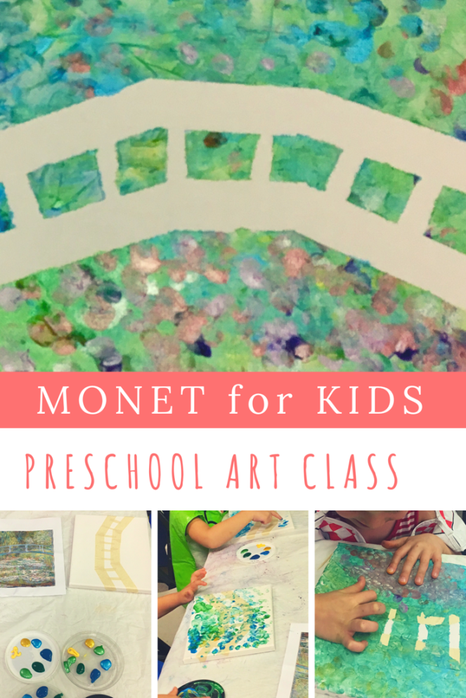 Impressionism for kids Preschool art with Monet