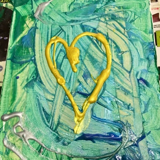 this heart was soon scraped away, but I promised the student I'd memorialize it!